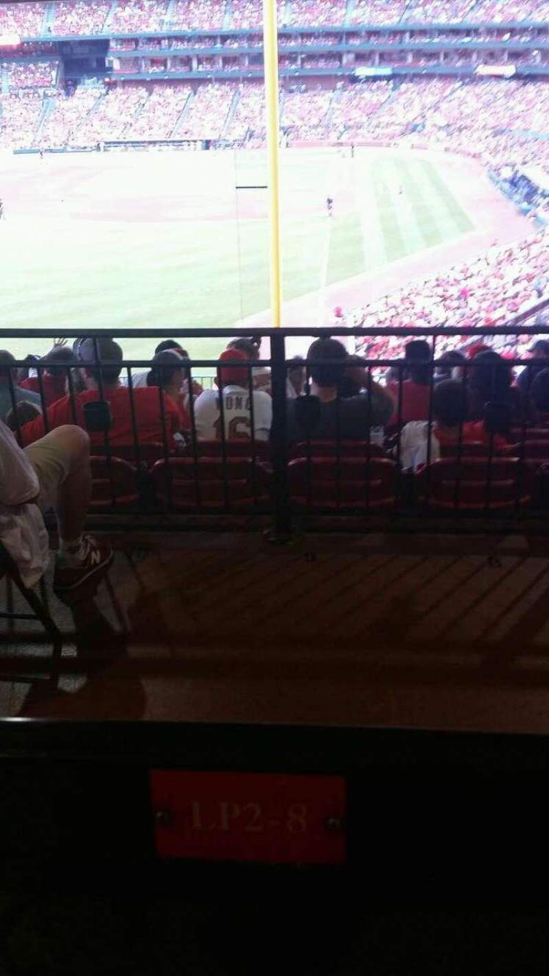 Seating view for Busch Stadium Section LP2 Row 12 Seat 8