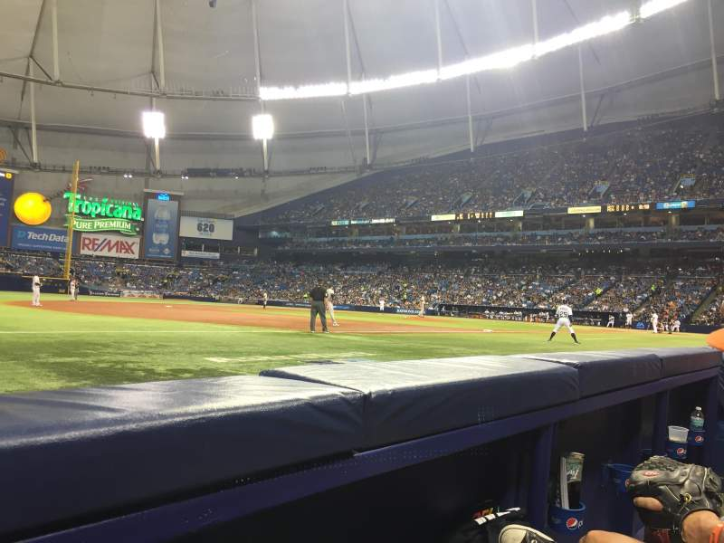 Seating view for Tropicana Field Section 125 Row B Seat 2