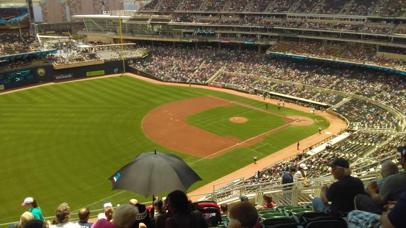 Seating view for Target Field Section 326 Row 12 Seat 12
