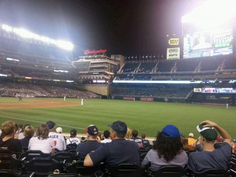 Seating view for Target Field Section 103 Row 11 Seat 14