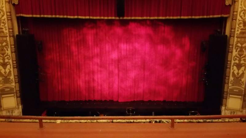 Seating view for Cadillac Palace Theater Section Loge center Row Row C Seat 315