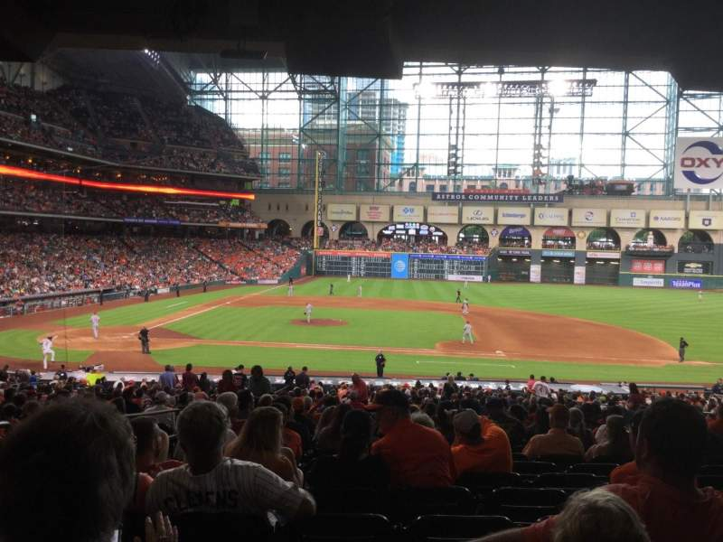 Seating view for Minute Maid Park Section 125 Row 39 Seat 1