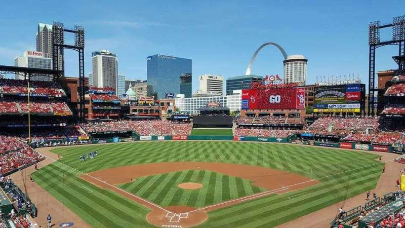 Seating view for Busch Stadium Section 249 Row 1 Seat 2