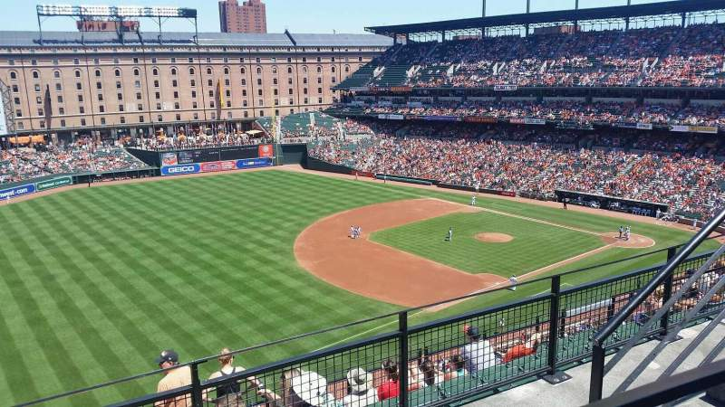 Seating view for Oriole Park at Camden Yards Section 266 Row 1 Seat 6