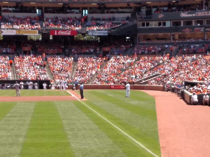 Seating view for Oriole Park at Camden Yards Section 74 Row 4 Seat 12
