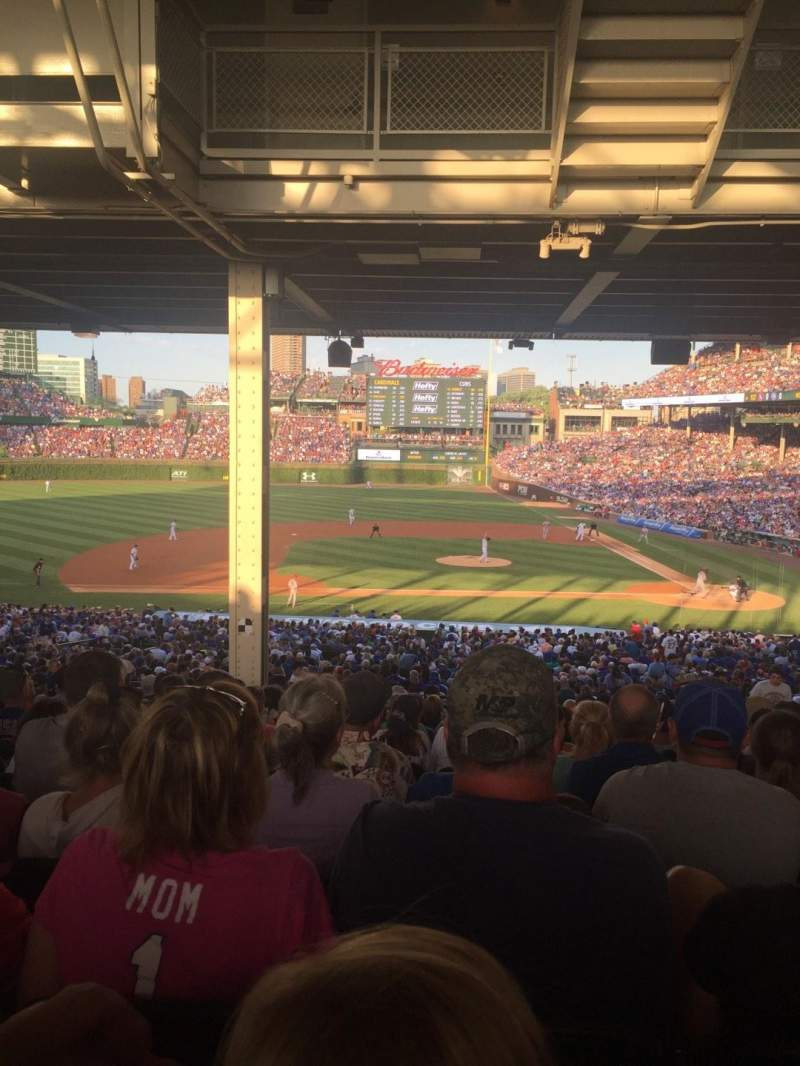 Seating view for Wrigley Field Section 215 Row 18 Seat 109