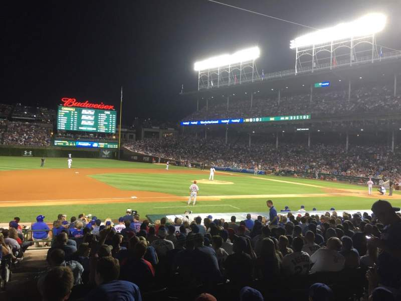 Seating view for Wrigley Field Section 111 Row 4 Seat 6