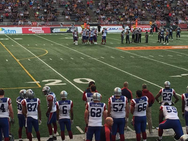Seating view for Percival Molson Memorial Stadium Section X1 Row 4 Seat 15