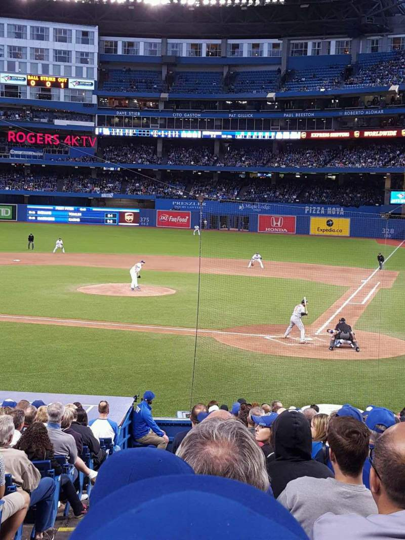 Seating view for Rogers Centre Section 123 Row 25 Seat 99