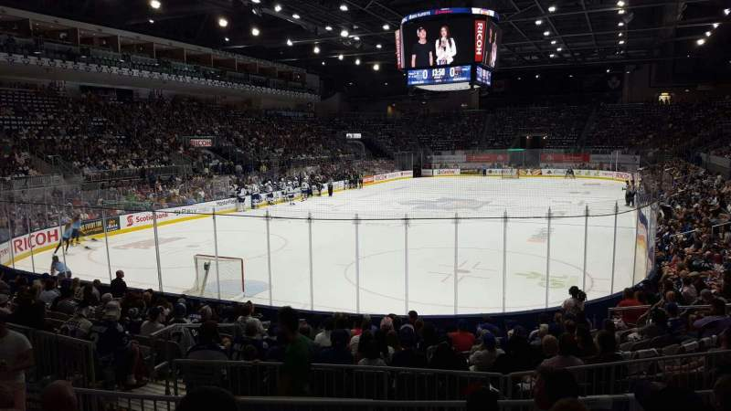 Seating view for Ricoh Coliseum Section 114 Row D