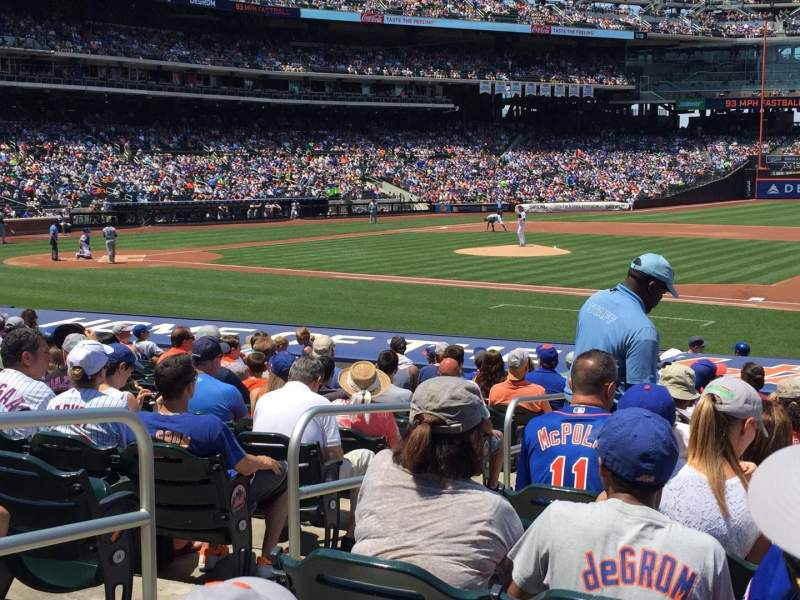 Seating view for Citi Field Section 112 Row 15 Seat 3-4
