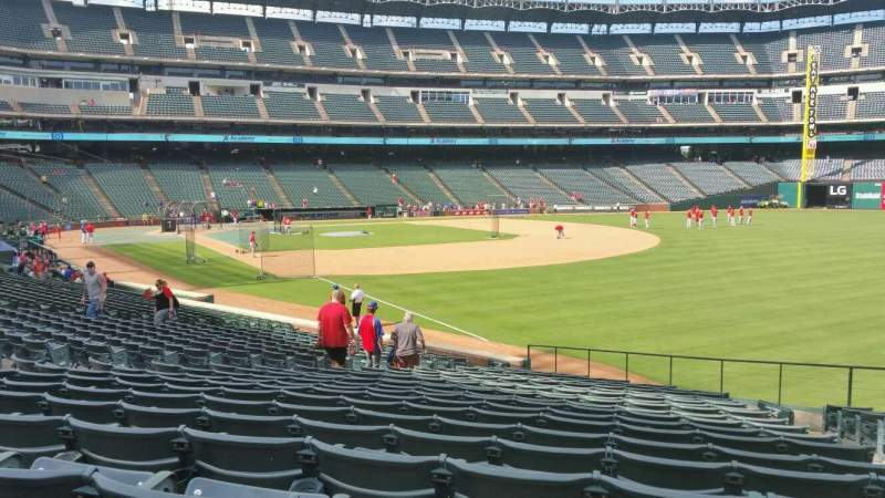 Seating view for Globe Life Park in Arlington Section 39 Row 22 Seat 16