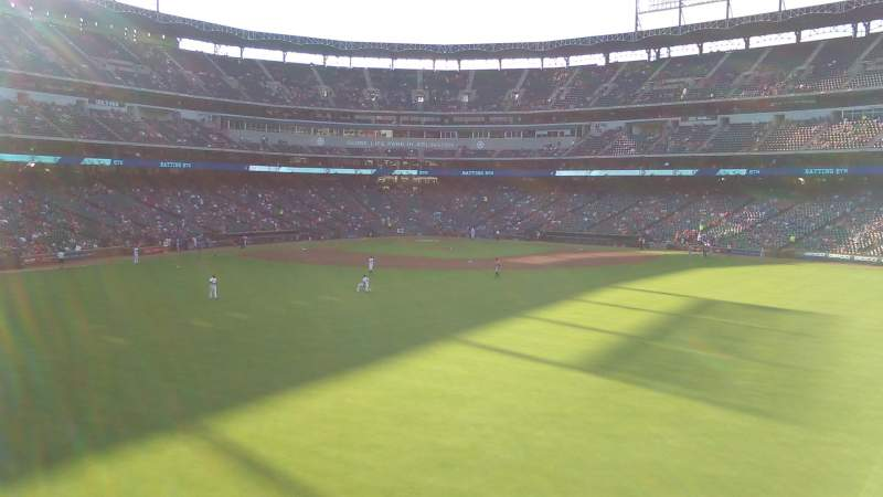 Seating view for Globe Life Park in Arlington Section Center field Row 1 Seat 20
