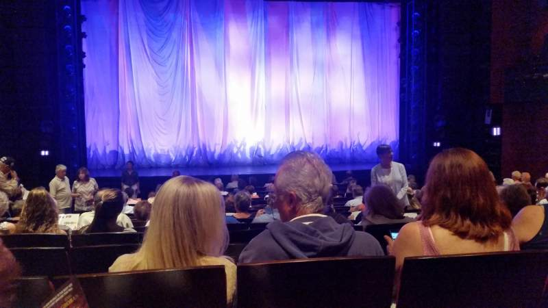 Seating view for Marquis Theatre Section Center orchestra Row Q Seat 110