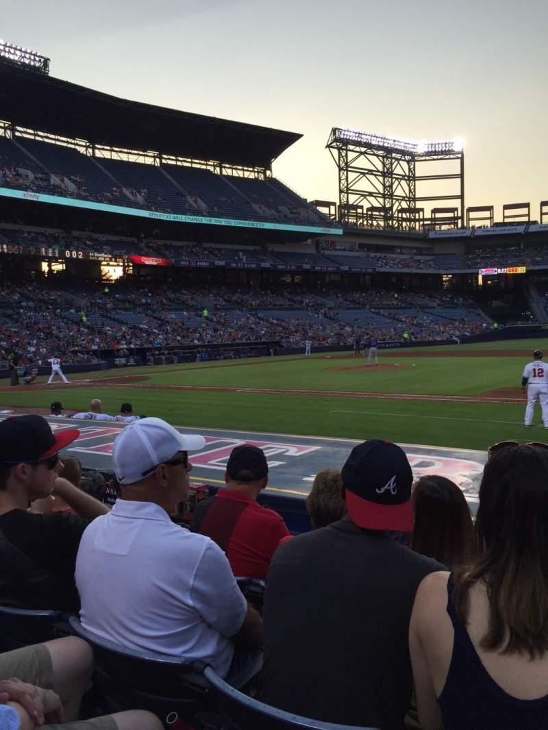 Seating view for Turner Field Section 115L Row 9 Seat 106
