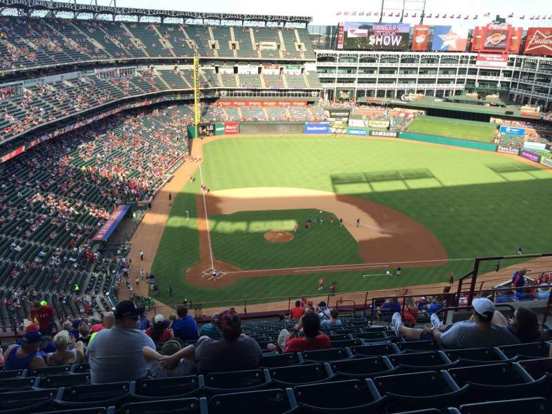 Seating view for Globe Life Park in Arlington Section 330 Row 19 Seat 12