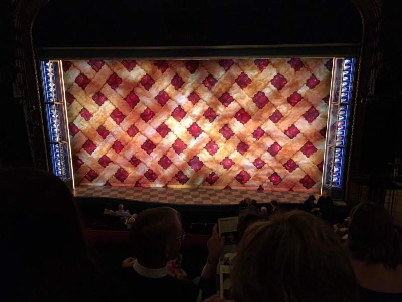 Seating view for Brooks Atkinson Theatre Section Front Mezz Center Row D Seat 111