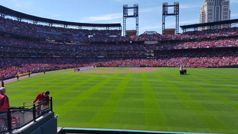 Seating view for Busch Stadium Section 109 Row 11 Seat 5