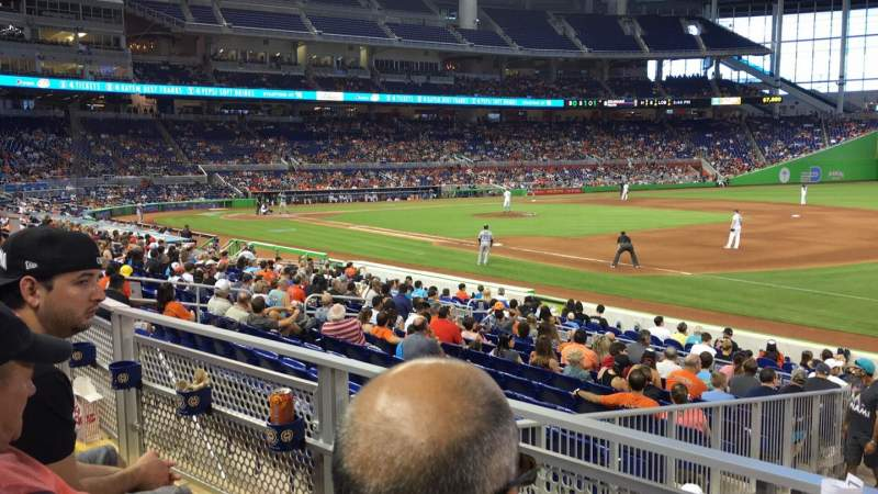 Seating view for Marlins Park Section 6 Row 2 Seat 7