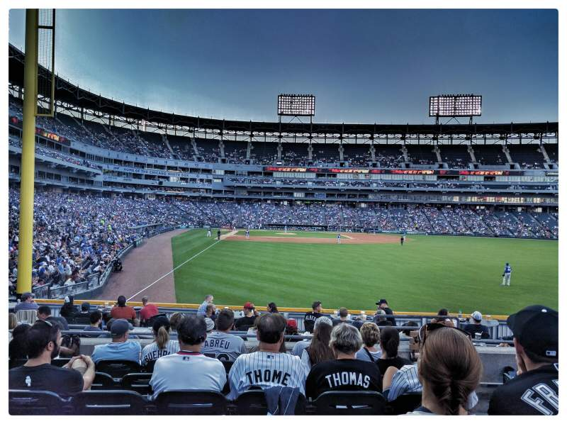 Seating view for Guaranteed Rate Field Section 107 Row 15 Seat 3