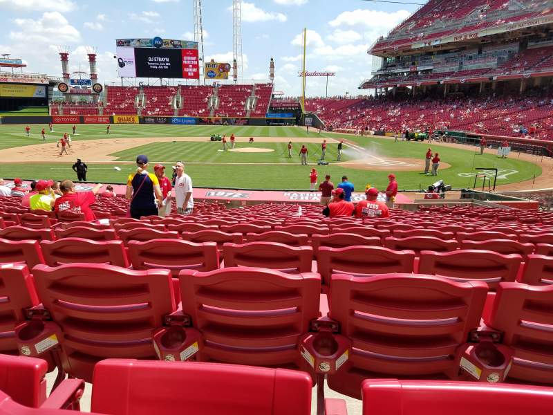 Seating view for Great American Ball Park Section 118 Row Y Seat 9