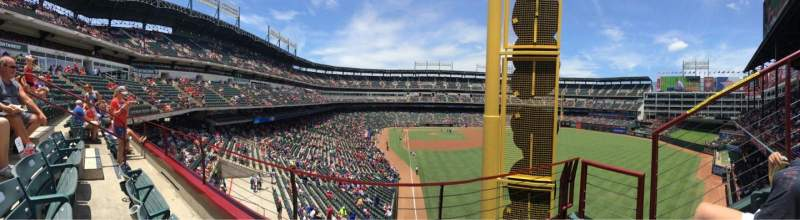 Seating view for Globe Life Park in Arlington Section 245 Row 2 Seat 6