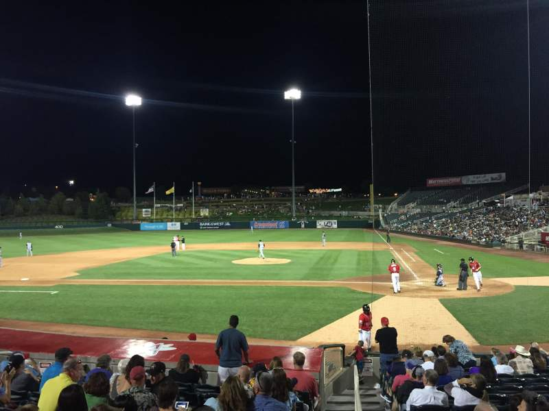 Seating view for Isotopes Park Section 107 Row 24