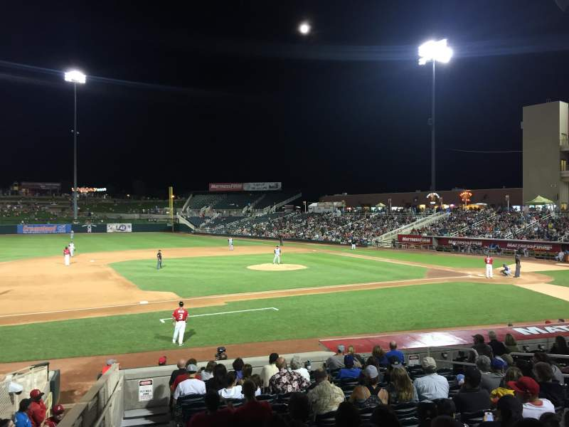Seating view for Isotopes Park Section 113 Row 15