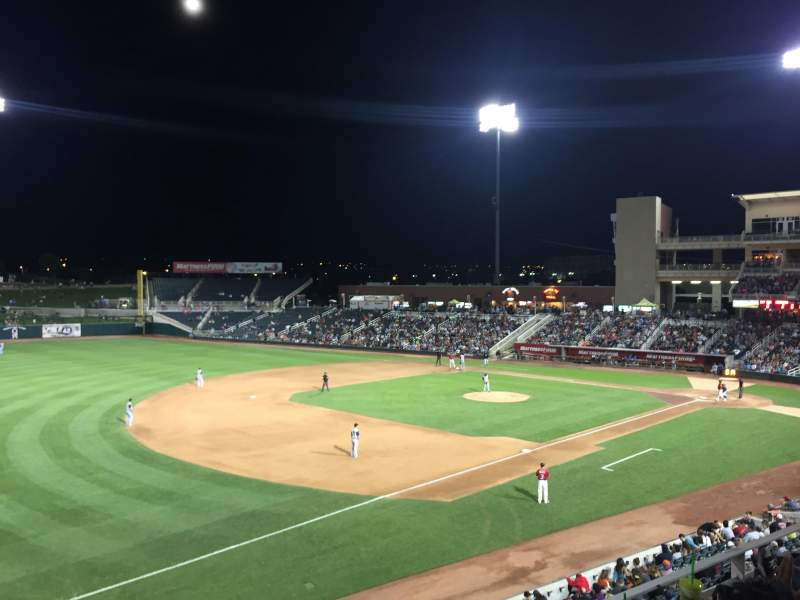 Seating view for Isotopes Park Section 205 Row 5