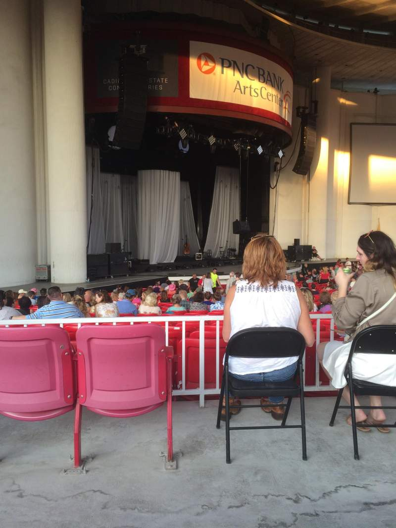 Seating view for PNC Bank Arts Center