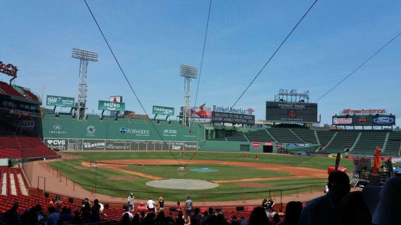Seating view for Fenway Park Section Loge Box 129 Row NN Seat 1