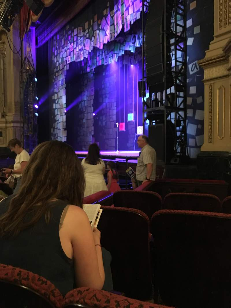 Seating view for Citizens Bank Opera House Section orchestra right box Row D Seat 52