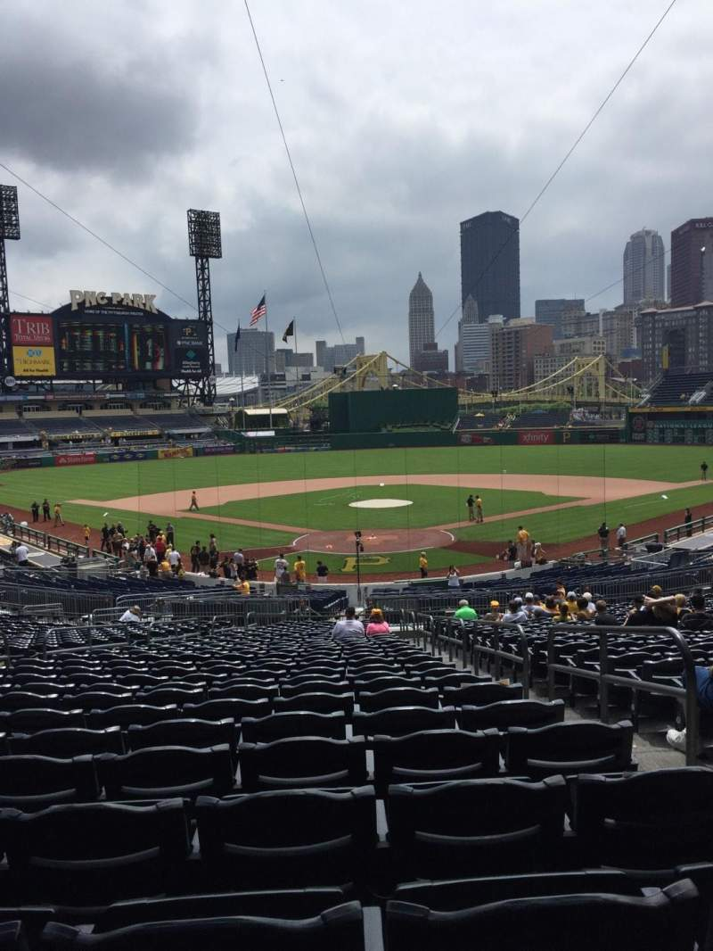 Seating view for PNC Park Section 116 Row BB Seat 3