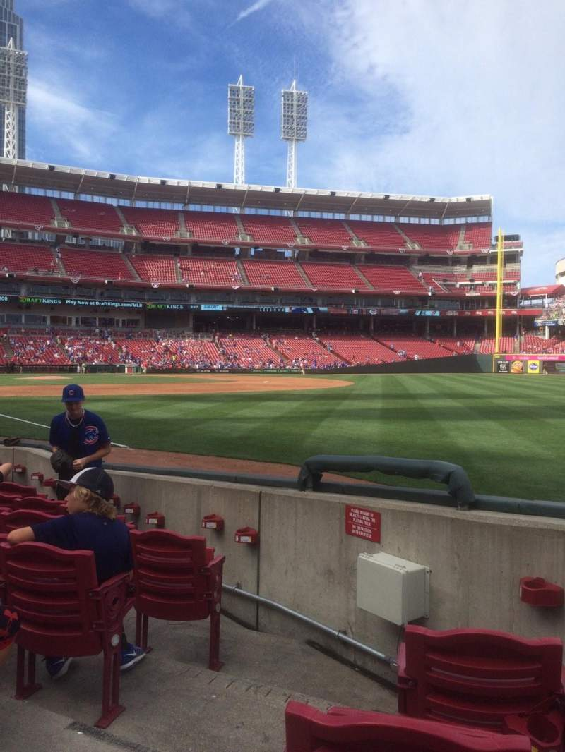 Seating view for Great American Ball Park Section 136 Row H Seat 19