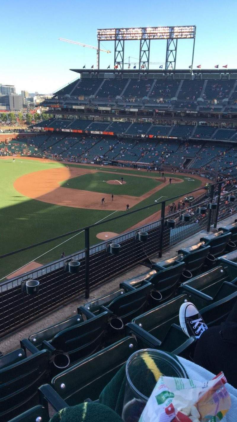 Seating view for AT&T Park Section 331 Row C Seat 18
