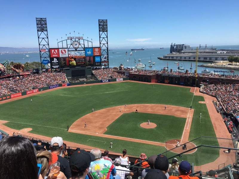 Seating view for AT&T Park Section 320 Row 5 Seat 3