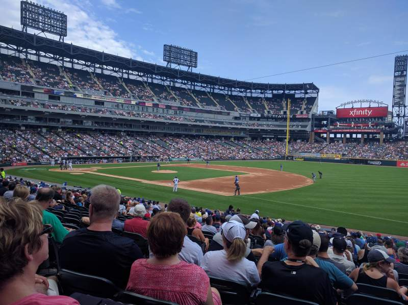 Seating view for Guaranteed Rate Field Section 118 Row 26 Seat 5