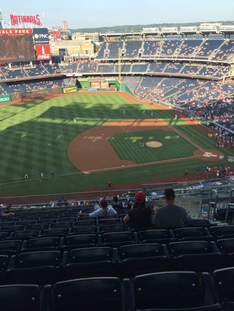 Seating view for Nationals Park Section 406 Row M Seat 7