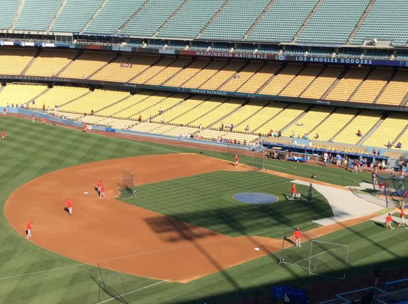 Seating view for Dodger Stadium Section 35RS Row E Seat 3