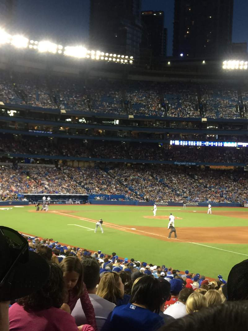 Seating view for Rogers Centre Section 113B Row 26 Seat 3