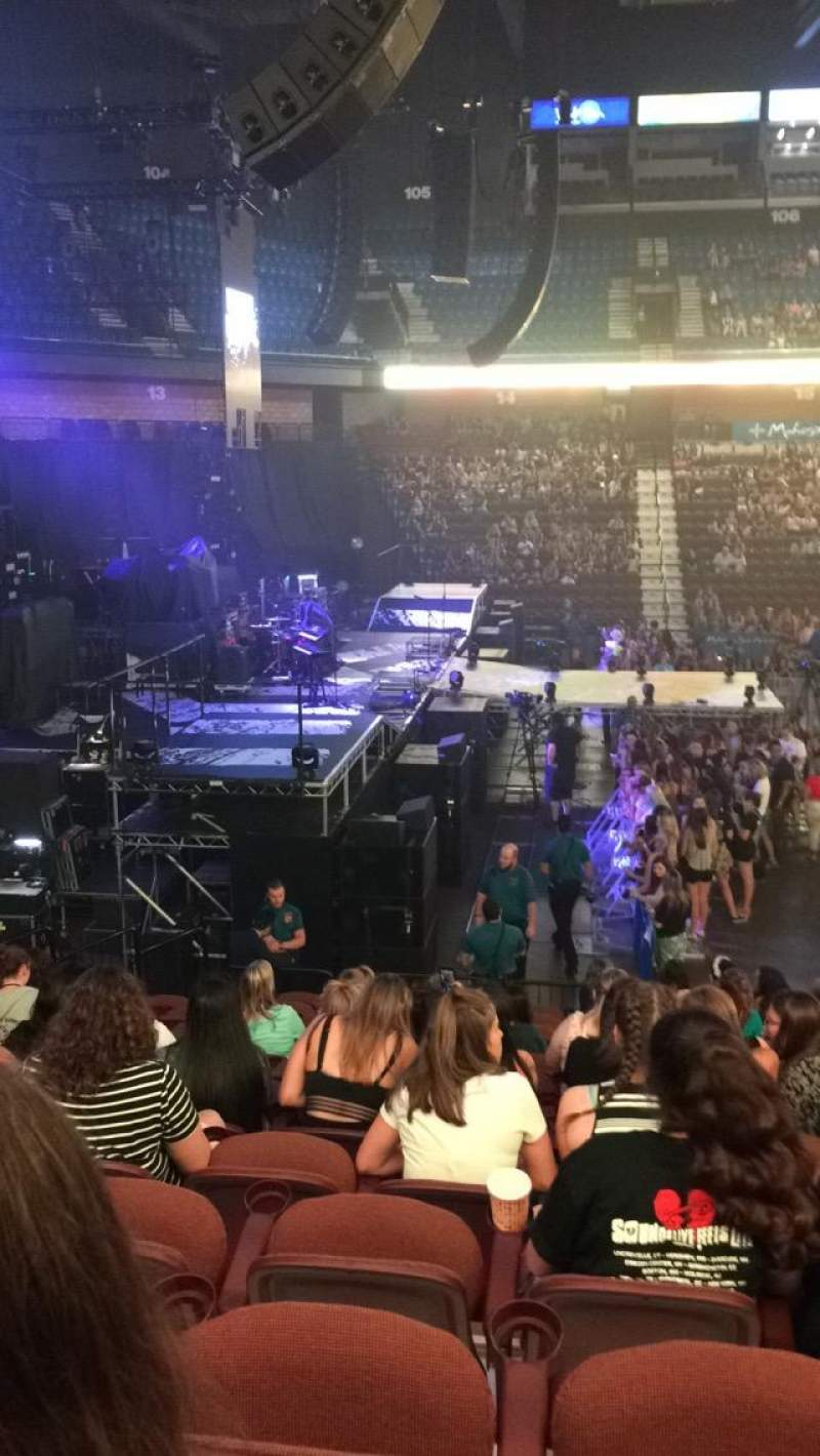 Seating view for Mohegan Sun Arena Section 26 Row Q Seat 4