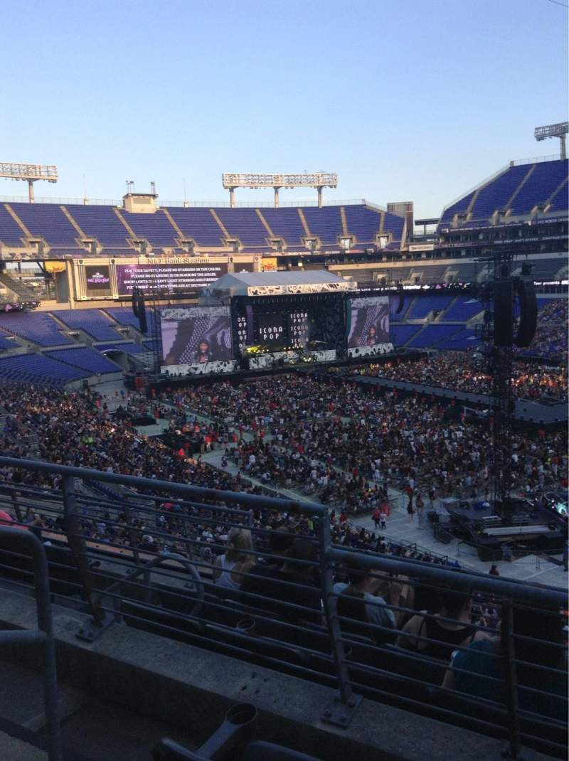 Seating view for M&T Bank Stadium Section 247 Row 2 Seat 2