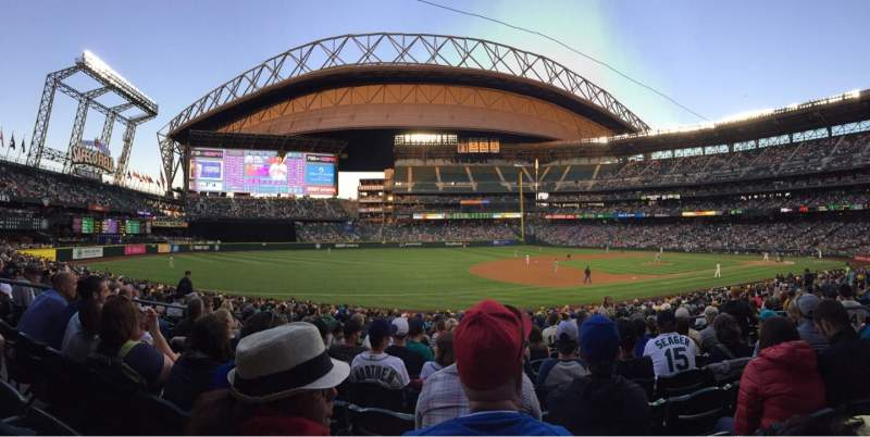 Seating view for Safeco Field Section 142 Row 28 Seat 8