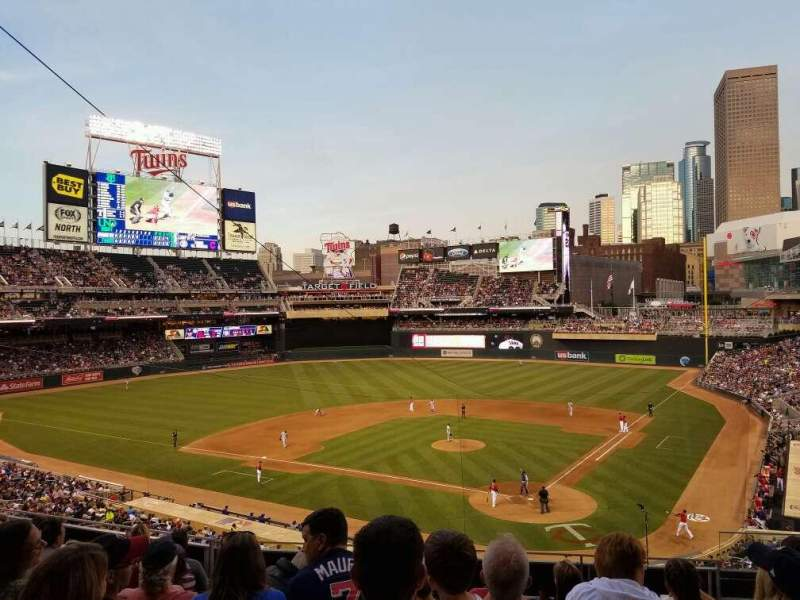 Seating view for Target Field Section K Row 7 Seat 4