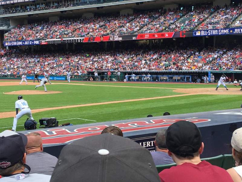 Seating view for Progressive Field Section 164 Row K Seat 5
