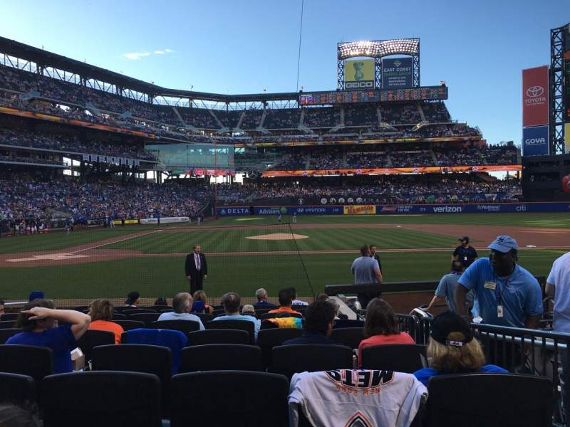 Seating view for Citi Field Section 11 Row 10 Seat 8