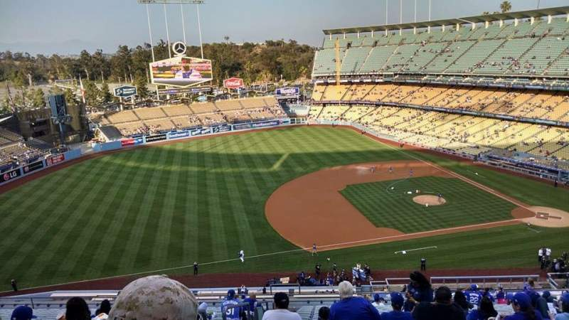 Seating view for Dodger Stadium Section 23RS Row T Seat 20