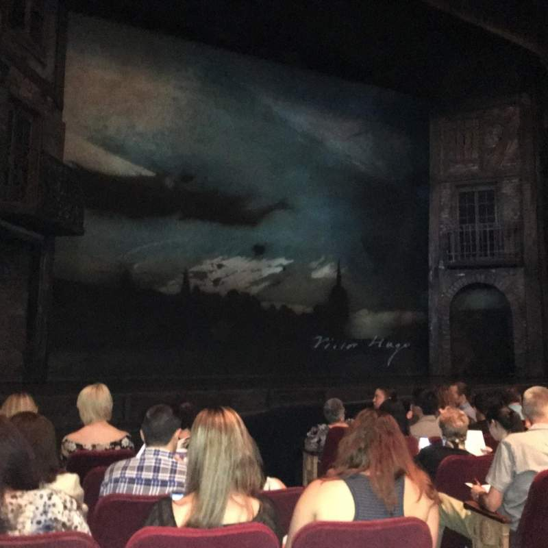Seating view for Gershwin Theatre Section Orchestra L Row G Seat 7