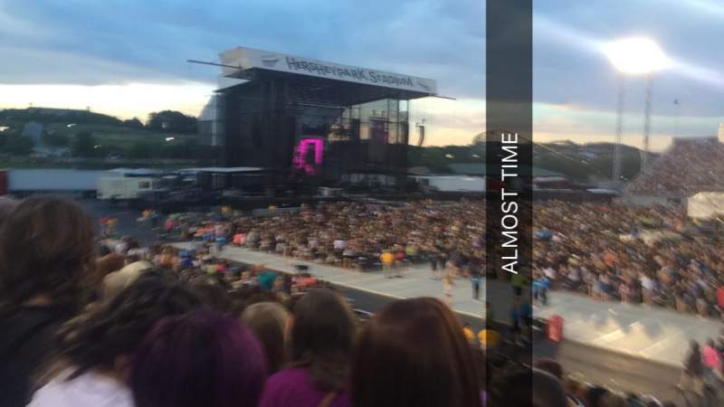 Hershey Park Stadium, section: 6, row: J, seat: 8
