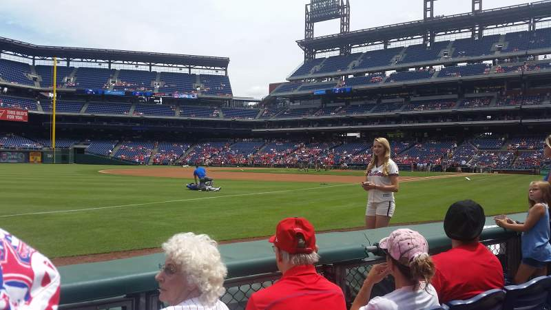 Seating view for Citizens Bank Park Section 136 Row 3 Seat 9